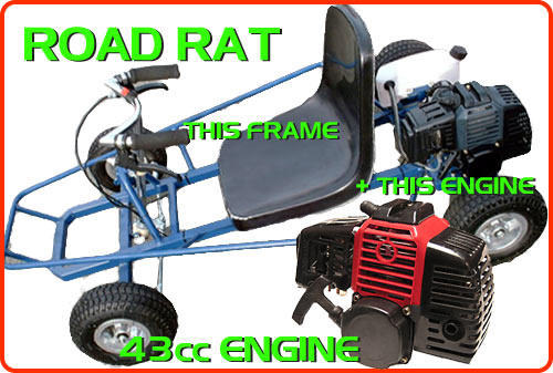 Parts 43cc Road Rat Part, 43cc Road Rat Kart Parts at SDScooters