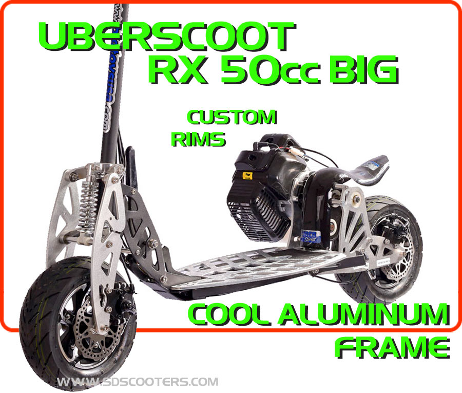 rx big 50cc gas scooter large